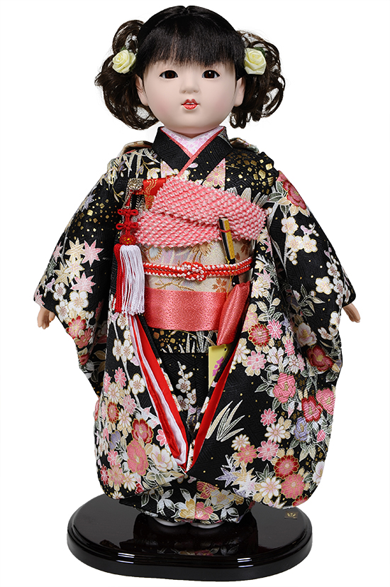 【市松人形】10号市松人形:金彩衣装 愛ちゃん:公司作【ひな人形】【浮世人形】
