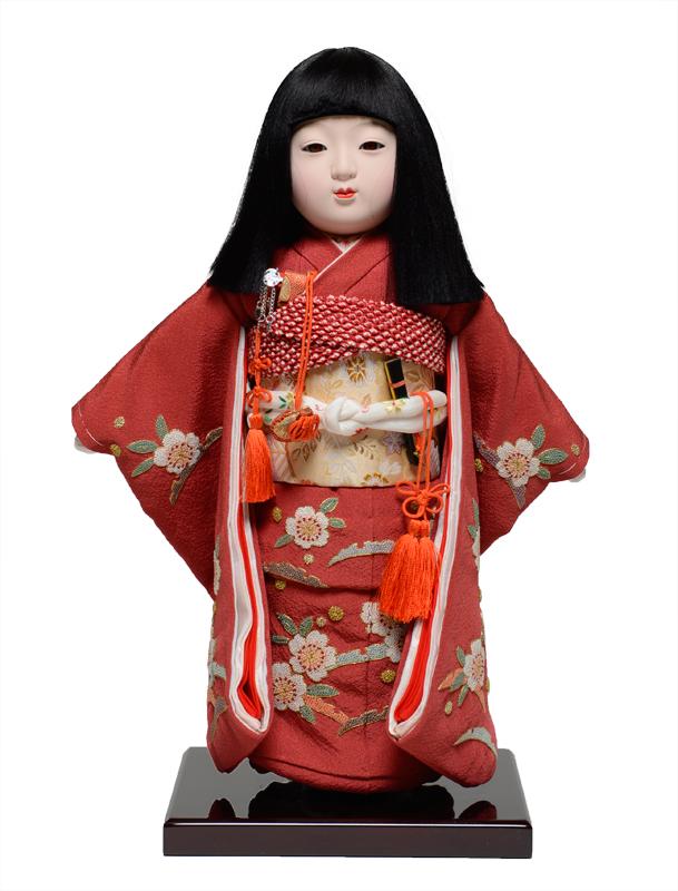 【市松人形】10号市松:正絹京染手縫い衣裳:元賀章介作【ひな人形】【浮世人形】