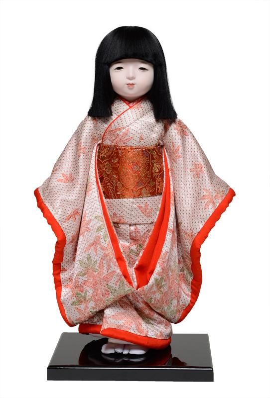 【市松人形】13号市松人形:正絹古布調本仕立仕様:伊藤草園作【ひな人形】【浮世人形】