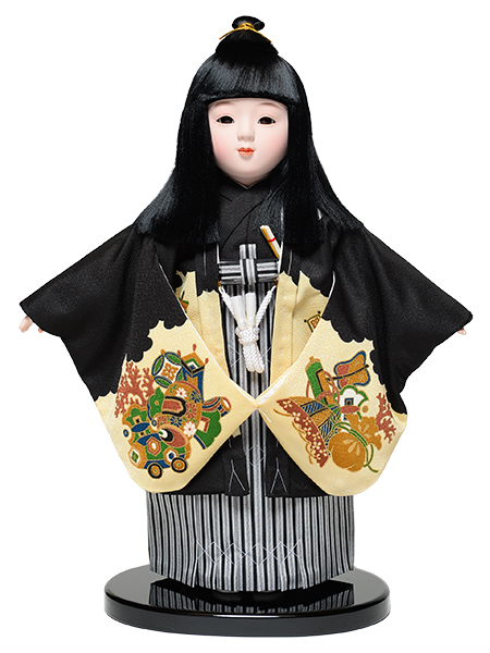 【市松人形 男】12号市松人形:羽織袴姿:京華作【ひな人形】【浮世人形】