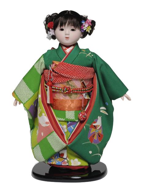 【市松人形】13号市松人形:正絹着尺仕様:平安豊久作【雛人形・ひな人形】【浮世人形】