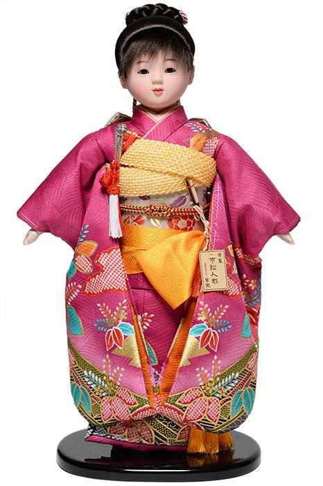 【市松人形】13号市松人形:金彩綸子衣装(大正ロマン):翠華作【ひな人形】【浮世人形】