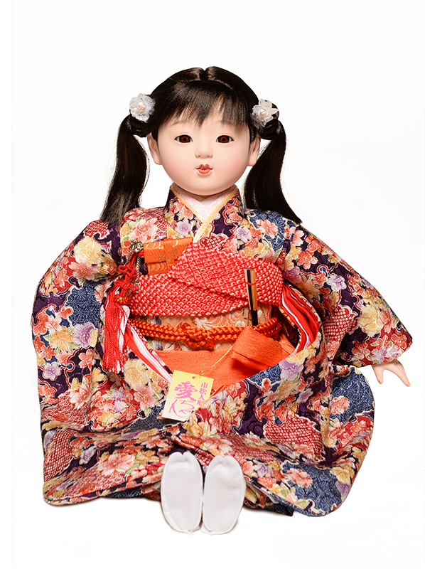 【市松人形】【雛人形】13号座市松【手彩色衣装】:公司作【ひな人形】【浮世人形】