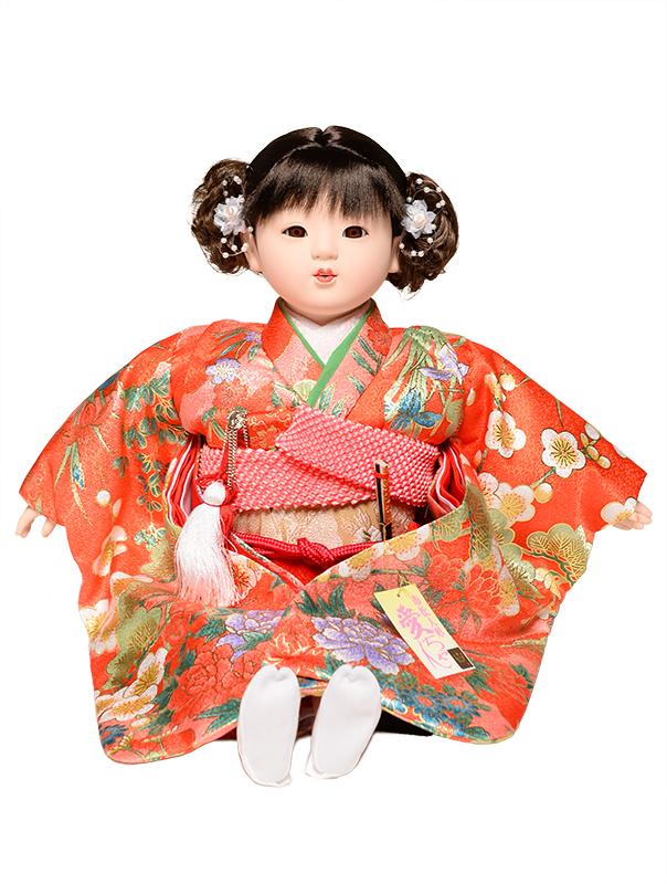 【市松人形】【雛人形】13号座市松【金彩衣装】:公司作【ひな人形】【浮世人形】
