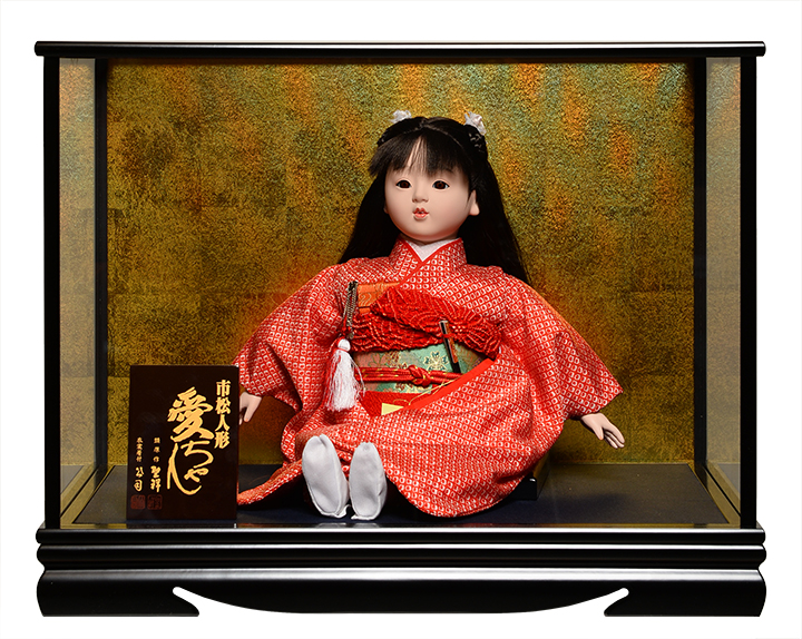 【市松人形】【雛人形】13号座市松【大正ロマン】:公司作 ケース入り【ひな人形】【浮世人形】