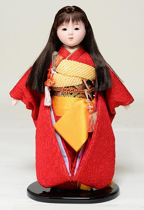 【ひな人形】【市松人形】市松人形10号市松人形:膨れ織お衣裳:翠泉作【膨れ織市松人形】【浮世人形】