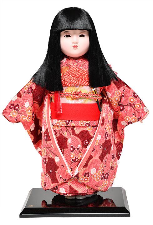 【市松人形】市松人形12号市松人形:綸子衣裳(オカッパ):京華作【ひな人形】【浮世人形】