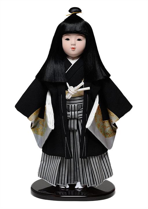 【ひな人形】【市松人形】市松人形12号市松人形:羽織袴姿:敏光作【木目込市松人形】【浮世人形】