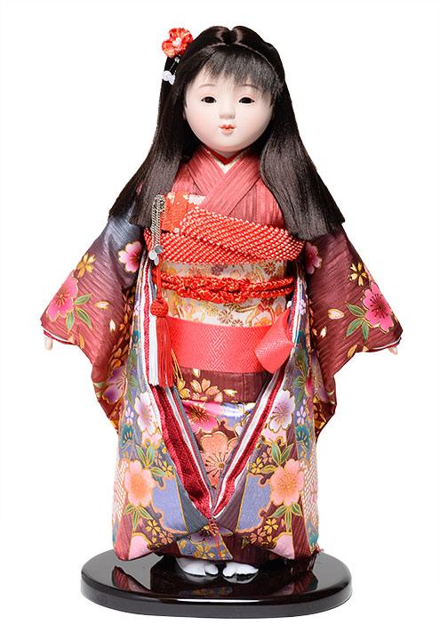 【ひな人形】【市松人形】市松人形10号市松人形:金彩桜柄衣装:敏光作【木目込市松人形】【浮世人形】