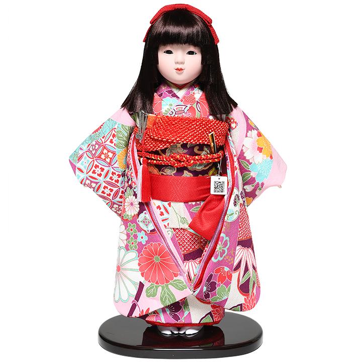 【市松人形】13号市松:京友禅衣裳:松寿作【ひな人形】【浮世人形】