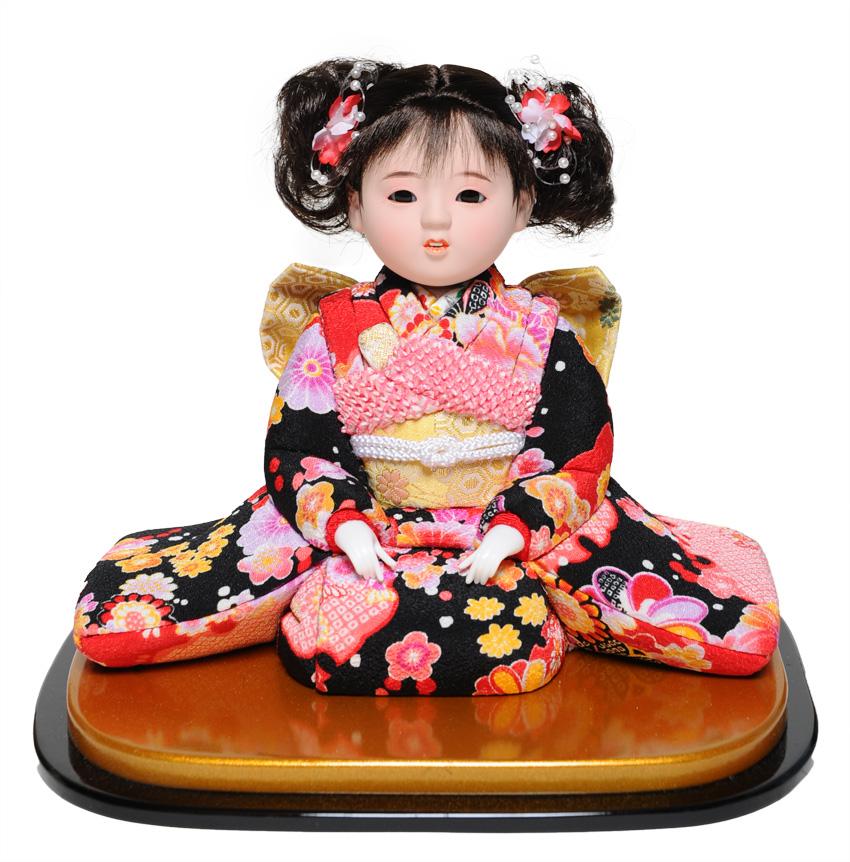 【雛人形】【ひな人形】【市松人形】6号座り木目込市松人形:友禅:京華作【木目込市松人形】【浮世人形】