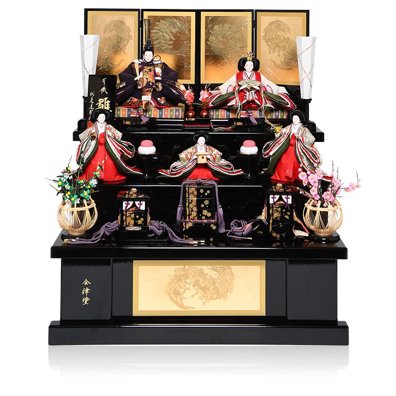 日本全国送料 手数料無料 人形の伏見屋 雛人形 国内正規品 三段飾 超激安 ひな人形 五人飾 京十番京六寸官女揃:爛漫雛:平安翠泉作