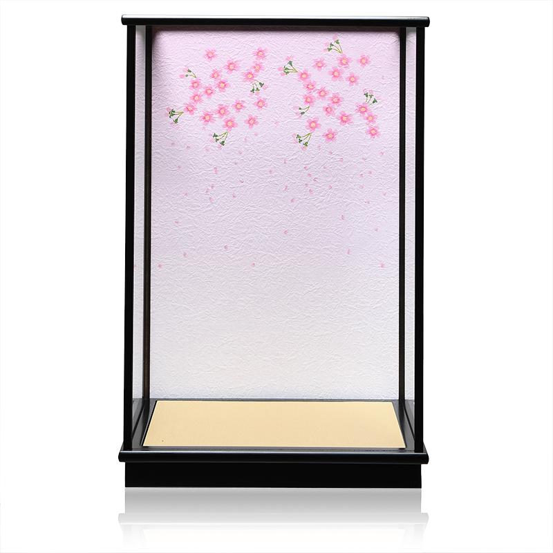 【人形ケース】【市松人形】【雛人形】10号H カブセケース「桜吹雪背景」【ひな人形】