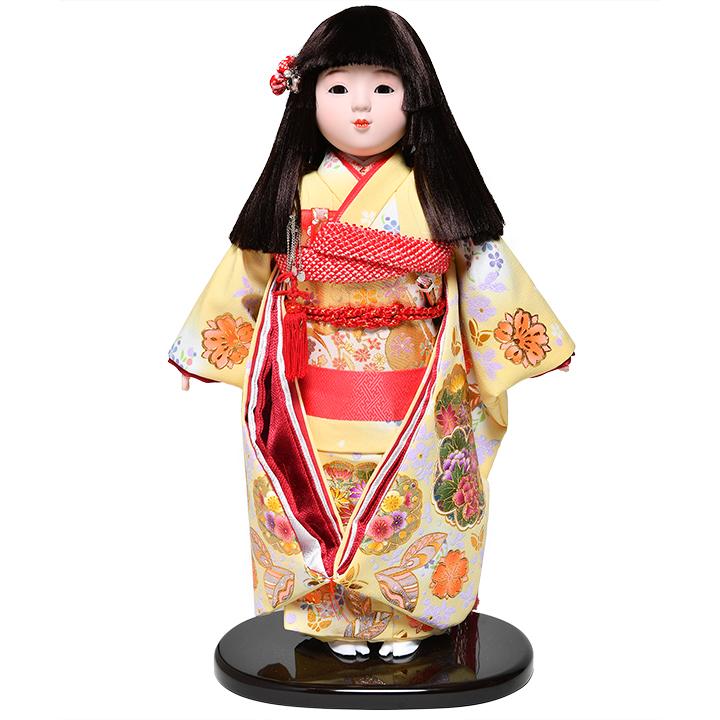 日本全国送料 手数料無料 訳あり商品 入手困難 全品価格保証 市松人形 ひな人形 浮世人形 13号市松金彩桜柄衣裳:敏光作