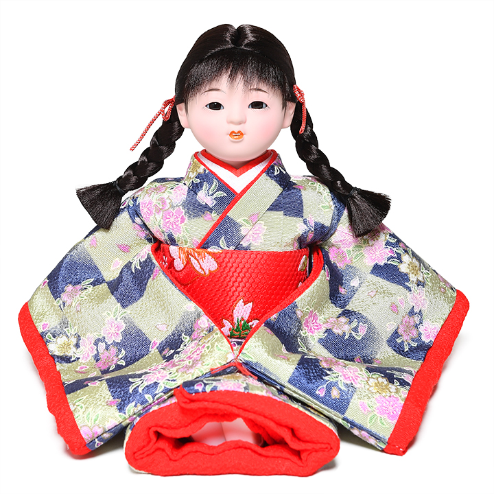 日本全国送料 返品交換不可 手数料無料 全品価格保証 ひな人形 市松人形 萌々 チリメン衣装 :敏光作 即納最大半額 浮世人形 6号座市松