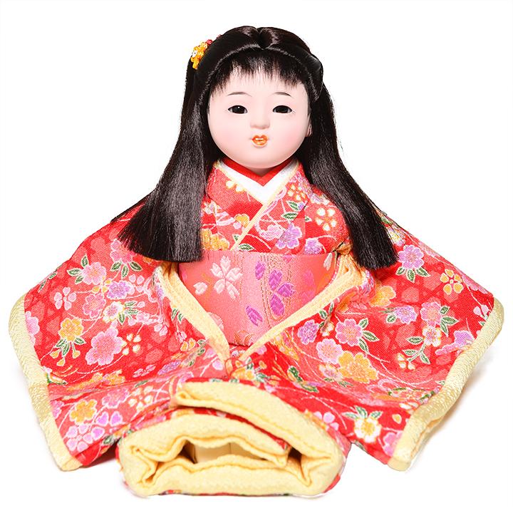 日本全国送料 手数料無料 全品価格保証 ギフ_包装 ひな人形 市松人形 お得クーポン発行中 6号座市松 浮世人形 :敏光作 萌々 さくら柄衣装