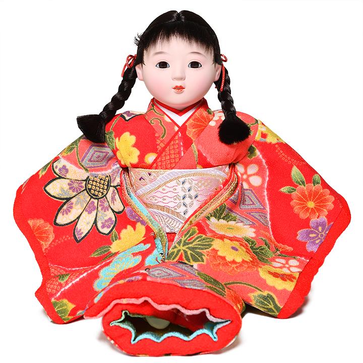 選択 日本全国送料 手数料無料 全品価格保証 ひな人形 市松人形 :敏光作 8号座市松 物品 浮世人形 京染衣装 萌々
