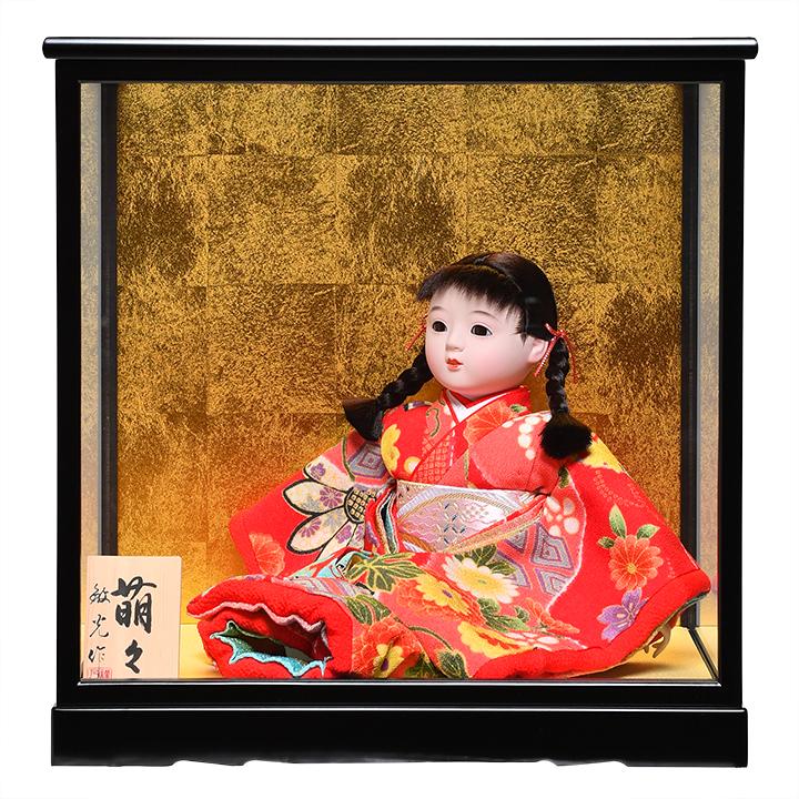 日本全国送料 手数料無料 全品価格保証 ひな人形 人気激安 市松人形 8号座市松 :敏光作:ケース入り 浮世人形 京染衣装 特価 萌々