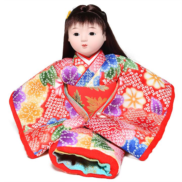 日本全国送料 交換無料 春の新作続々 手数料無料 全品価格保証 ひな人形 市松人形 萌々 :敏光作 8号座市松 金彩衣装 浮世人形