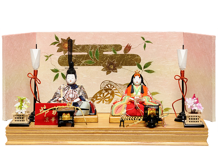 【木目込】木目込人形:日菜雛:京華作【木目込親王飾】【ひな人形】【雛人形】