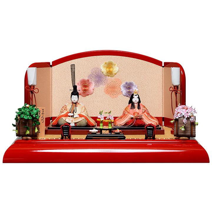 【雛人形】【木目込親王飾】木目人形:彩光雛:真多呂作【ひな人形】