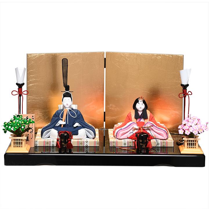 【雛人形】【木目込親王飾】木目込人形:秀明雛:真多呂作【ひな人形】