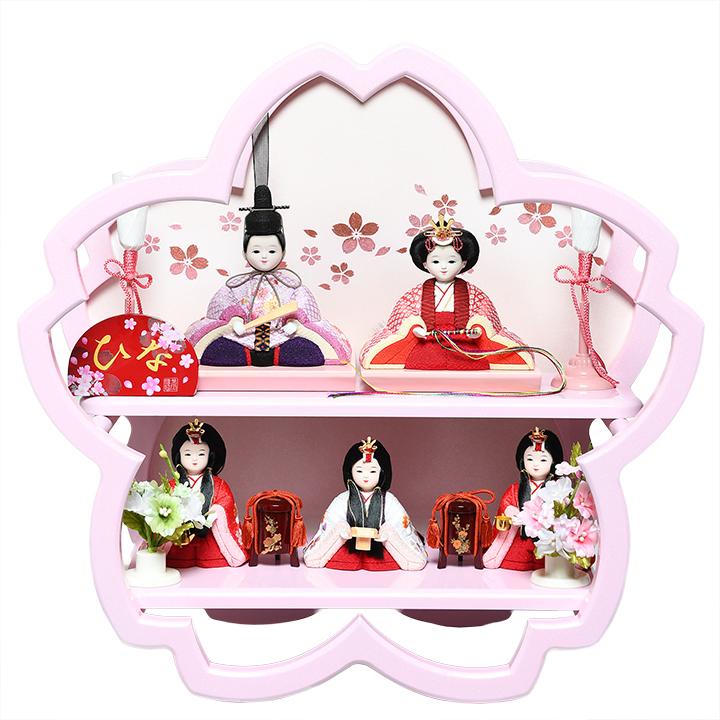 【雛人形】【木目込五人飾】木目込人形:SAKURA さくら五人:美光作【木目込5人飾】【ひな人形】