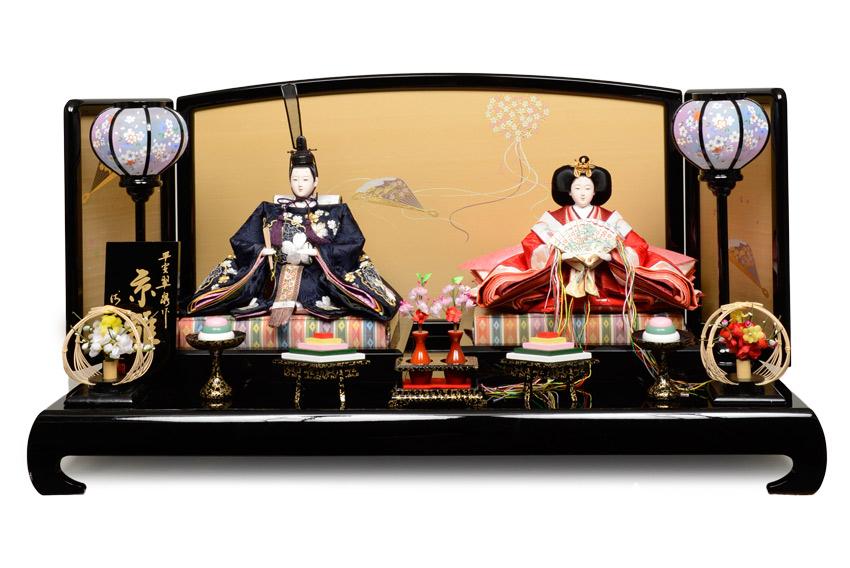 【ひな人形】京九番親王飾:琴美雛:伏見屋監修【雛人形】【親王飾】