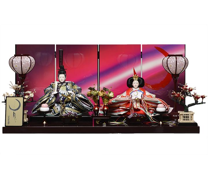 【ひな人形】京十一番親王 月ひな:山本寛斎監修【雛人形】【親王飾】
