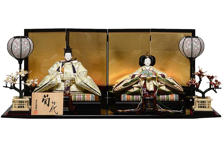 【ひな人形】京十番親王 菊花雛:平安優香作【雛人形】【親王飾】