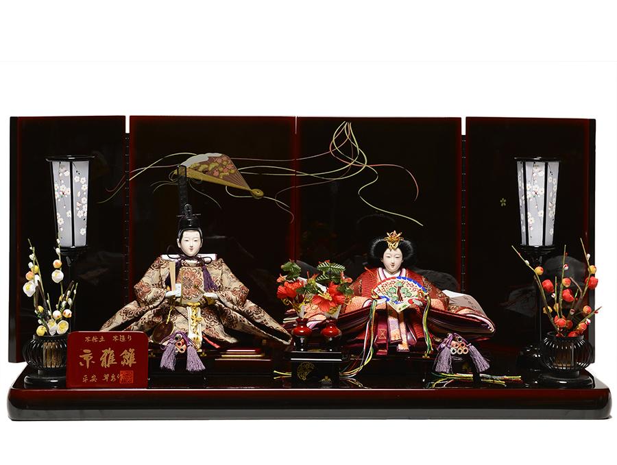 【ひな人形】京三五親王 莉桜雛:平安翠泉作【雛人形】【親王飾】