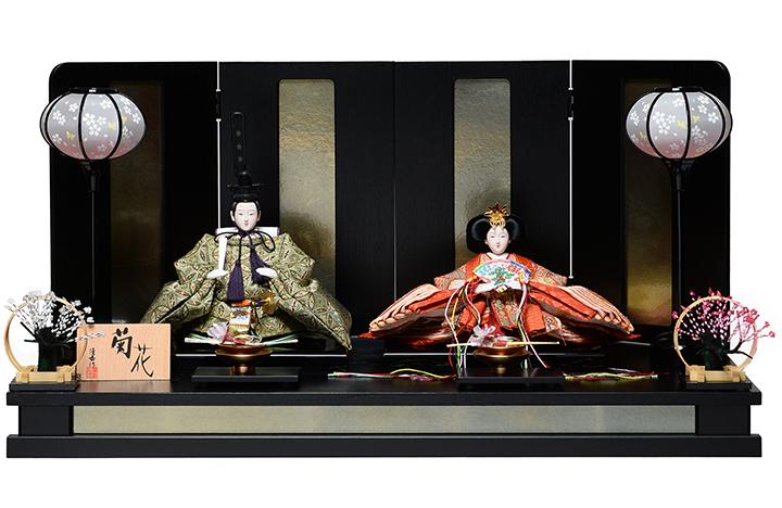 【雛人形 五人飾】【雛人形】京小十番親王:菊花雛:平安優香作 【ひな人形】