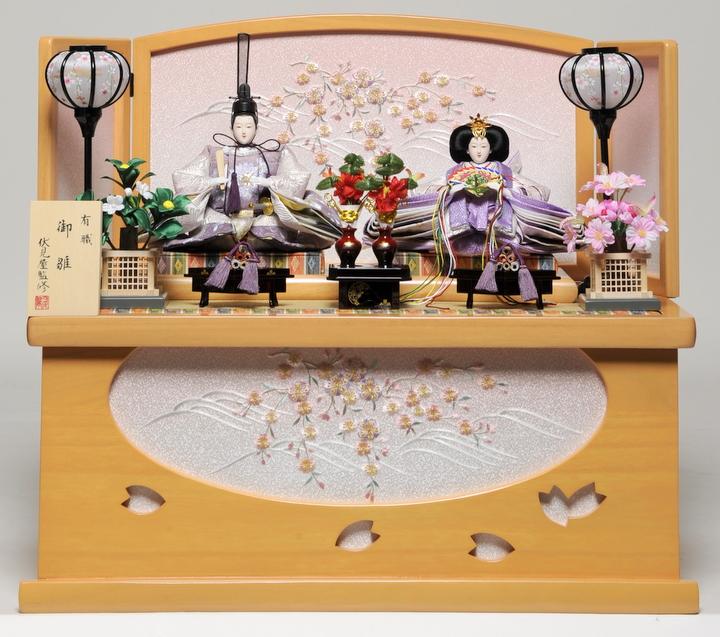 【雛人形収納飾】三五親王:山科雛:伏見屋監修【雛人形】【親王飾】