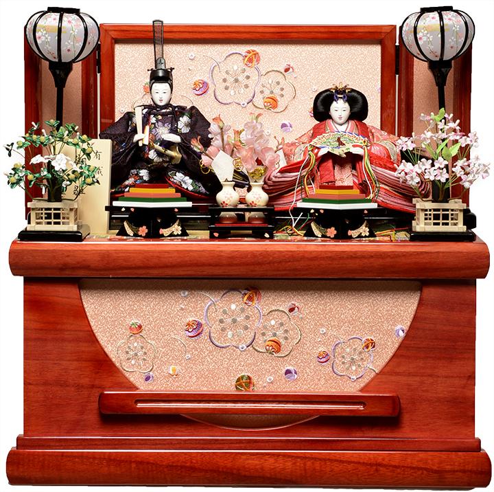 【雛人形収納飾】芥子親王飾:さくら雛:伏見屋監修【雛人形】【親王飾】