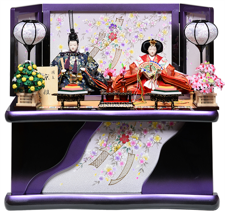 【雛人形収納飾】 京三五親王飾:京桜雛:平安翠泉作【雛人形】【親王飾】