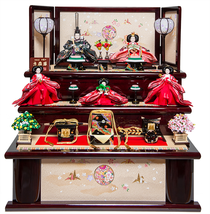 【雛人形収納飾】三五親王芥子官女揃:心美雛:平安翠泉作【雛人形】【親王飾】
