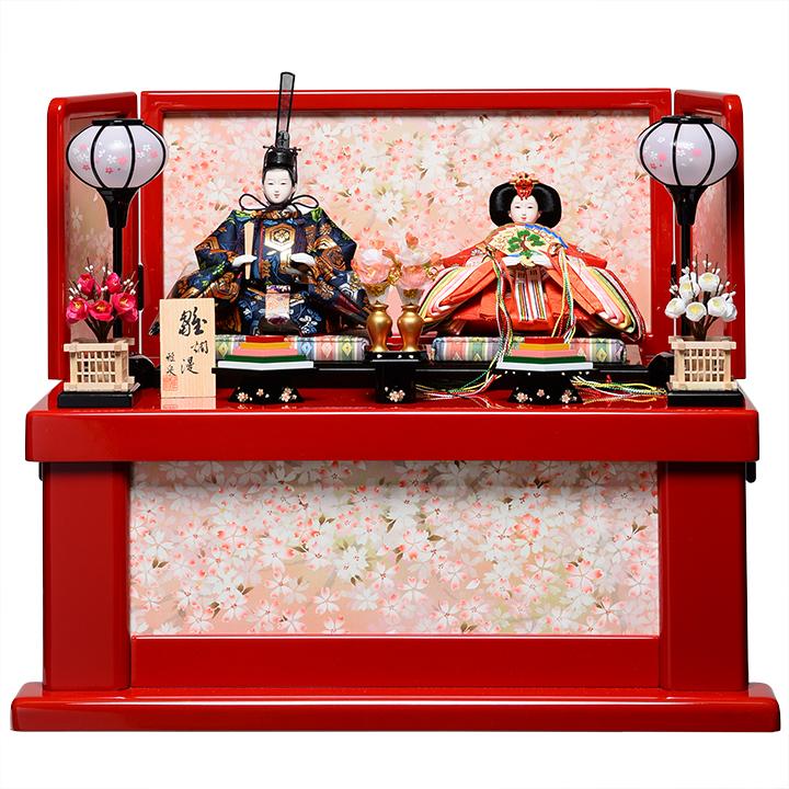 【雛人形収納飾】小三五親王飾:結愛雛:雅泉作【雛人形】【親王飾】