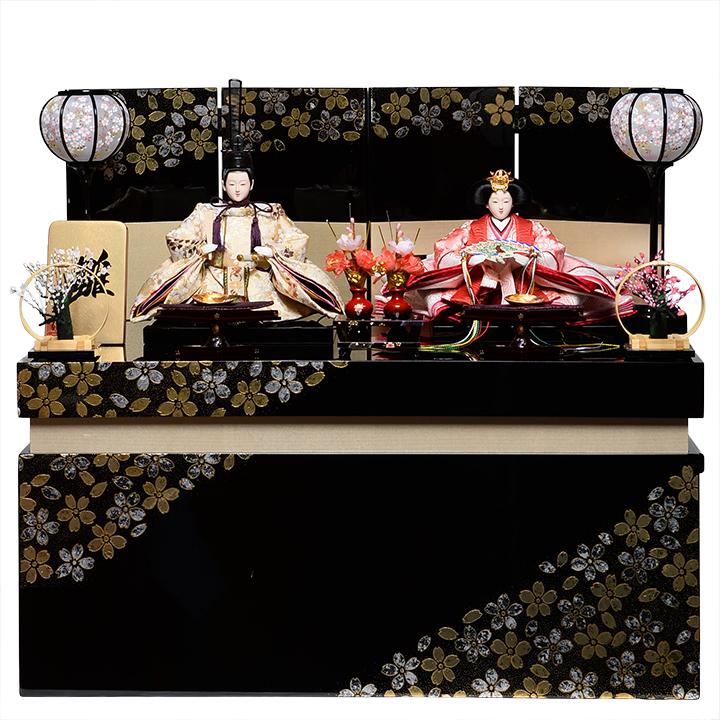【雛人形収納飾】京三五親王飾:陽葵雛:瑞祥作【雛人形】【親王飾】
