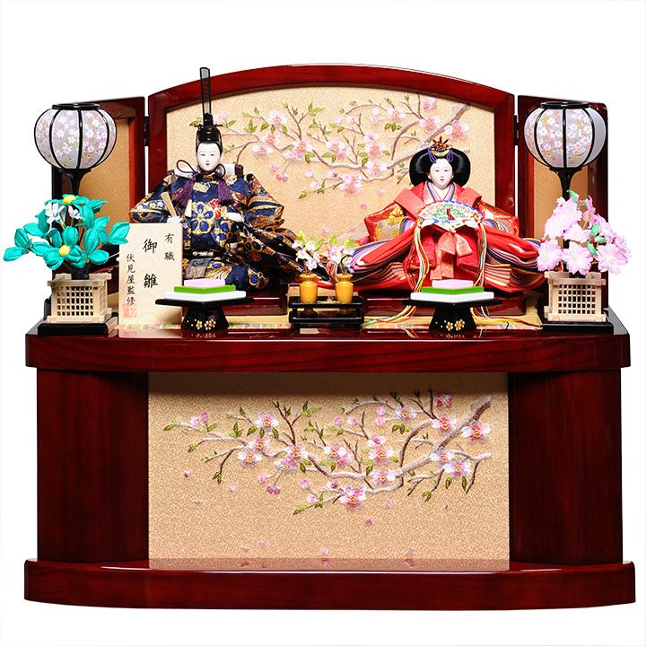 【雛人形収納飾】三五親王飾:華の宴雛:伏見屋監修【雛人形】【親王飾】