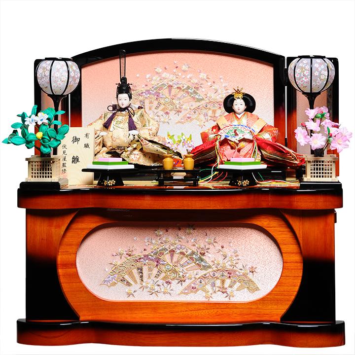 【雛人形収納飾】芥子親王飾:佳愛雛:伏見屋監修【雛人形】【親王飾】