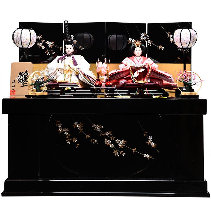 【雛人形収納飾】京三五親王飾:桧和(ひより)雛:瑞祥作【雛人形】【親王飾】