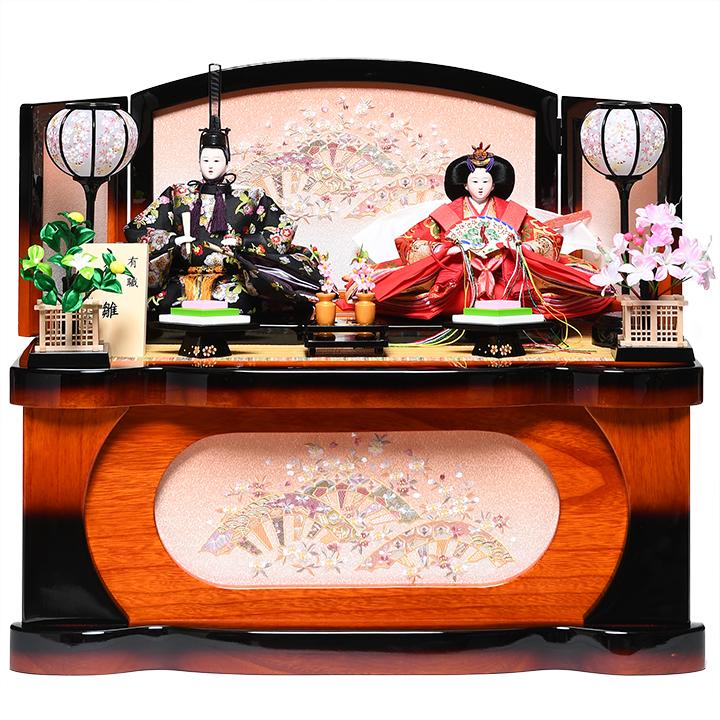 【雛人形収納飾】芥子親王飾:佳愛雛(A):伏見屋監修【雛人形】【親王飾】