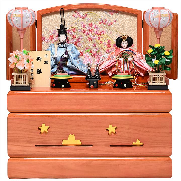 【雛人形収納飾】京三五親王飾:千草雛:伏見屋監修【雛人形】【親王飾】