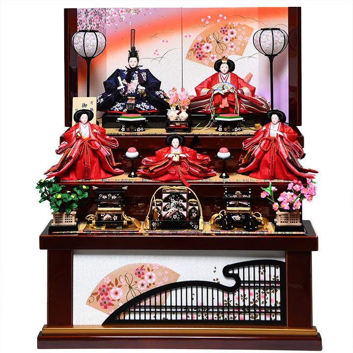 【雛人形収納三段飾】大三五親王芥子官女:沙桜雛:伏見屋監修【雛人形】