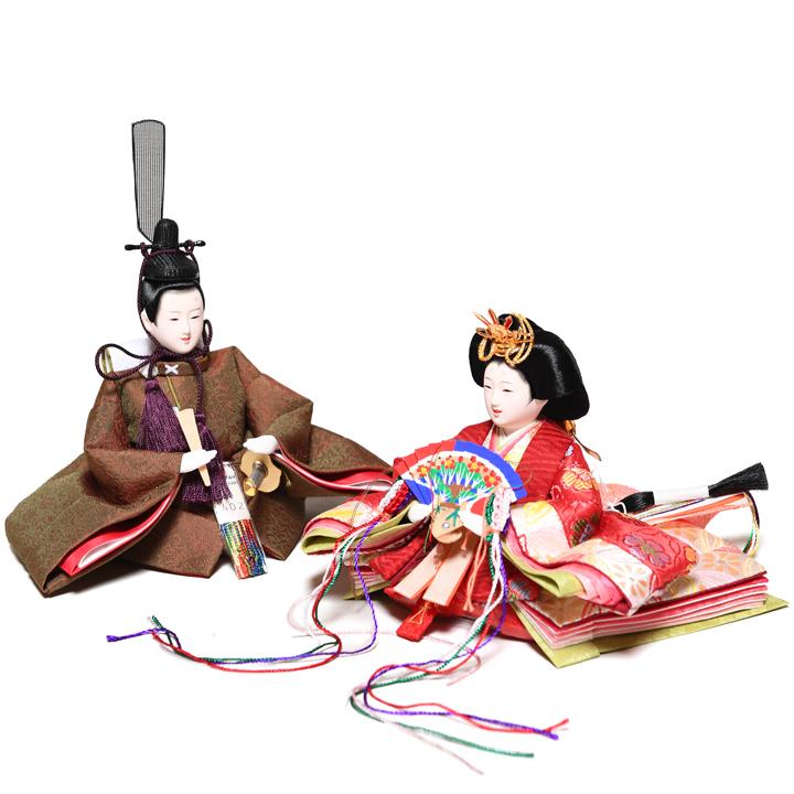 【雛人形収納飾】京柳親王飾:麹塵雛:瑞祥作【雛人形】【親王飾】