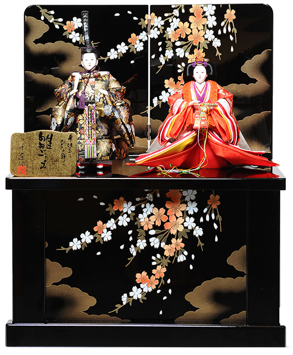 日本全国送料 手数料無料 人形の伏見屋 雛人形収納飾 立雛 激安 京三五立雛収納飾:千匠作 親王飾 ひな人形 高価値 おぼこ雛