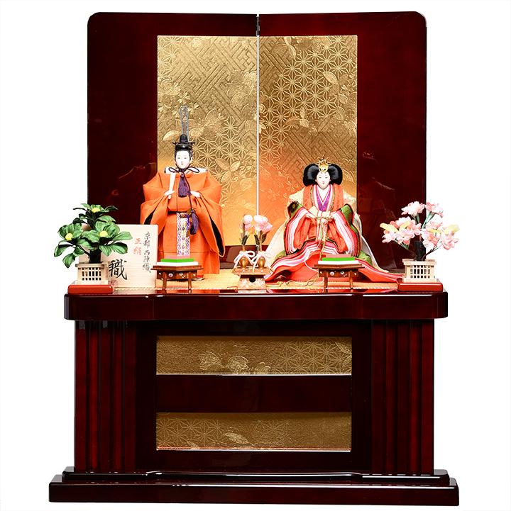 【雛人形収納飾】【立雛・おぼこ雛】京三五皇室色彩立雛収納飾:千匠人形工房【ひな人形】【親王飾】