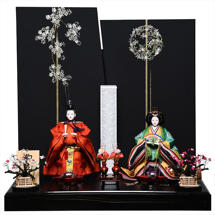 【立雛】【親王飾】京三五立雛黄呂染飾:皇室カラー:美光監修【雛人形】