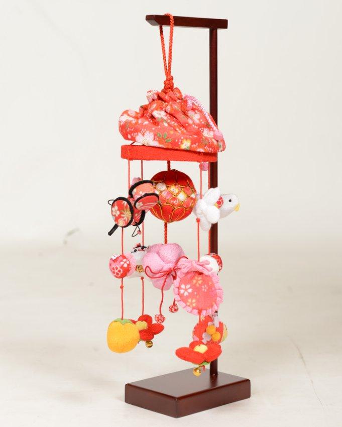 【ひな人形】つるし雛 卓上傘付ひなもも吊るし雛 スタンド付【吊るし雛】