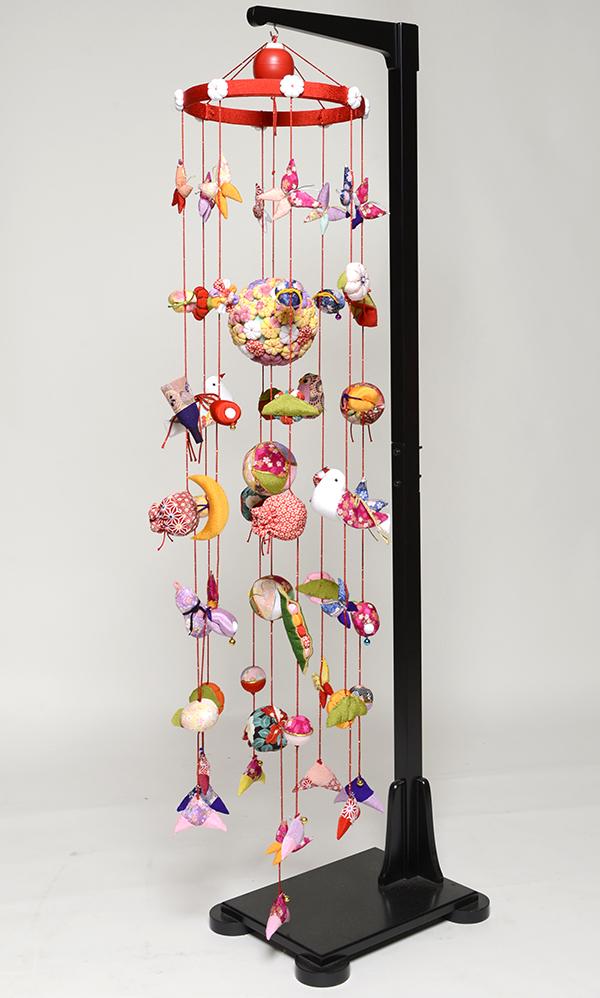 【つるし飾】【ひな人形】つるし雛 オルゴール付つるし雛:花毬【吊るし雛】【雛人形】